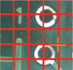 Rigaku Primus IV WDXRF mapping location setting - grid mode