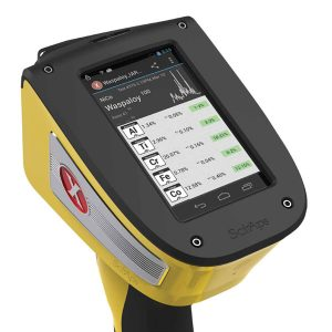 SciAps X-series handheld XRF spectrometer powered by Android